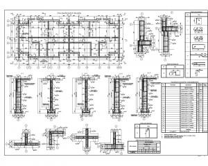 Средняя-секция-жилого-многоквартирного-дома45_фундаменты_монолит-План-фундаментов